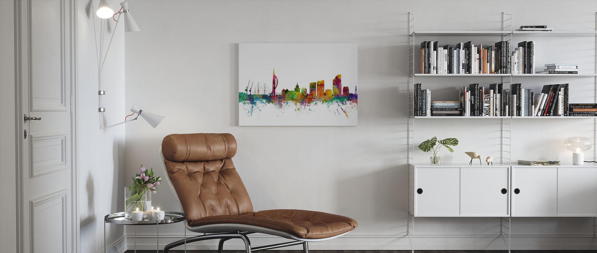 Portsmouth England Skyline - Canvas print - Living Room