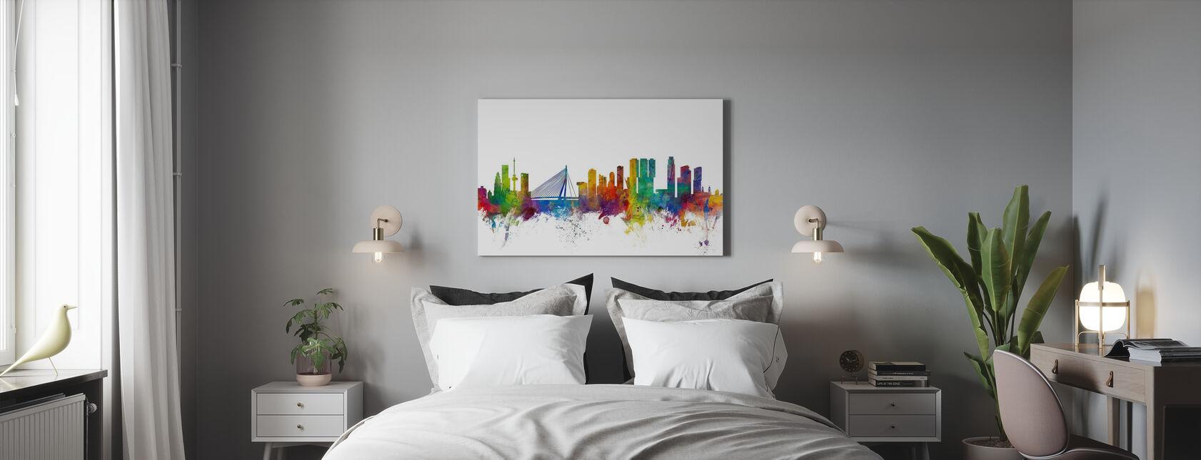 Rotterdam Skyline - Canvas print - Slaapkamer