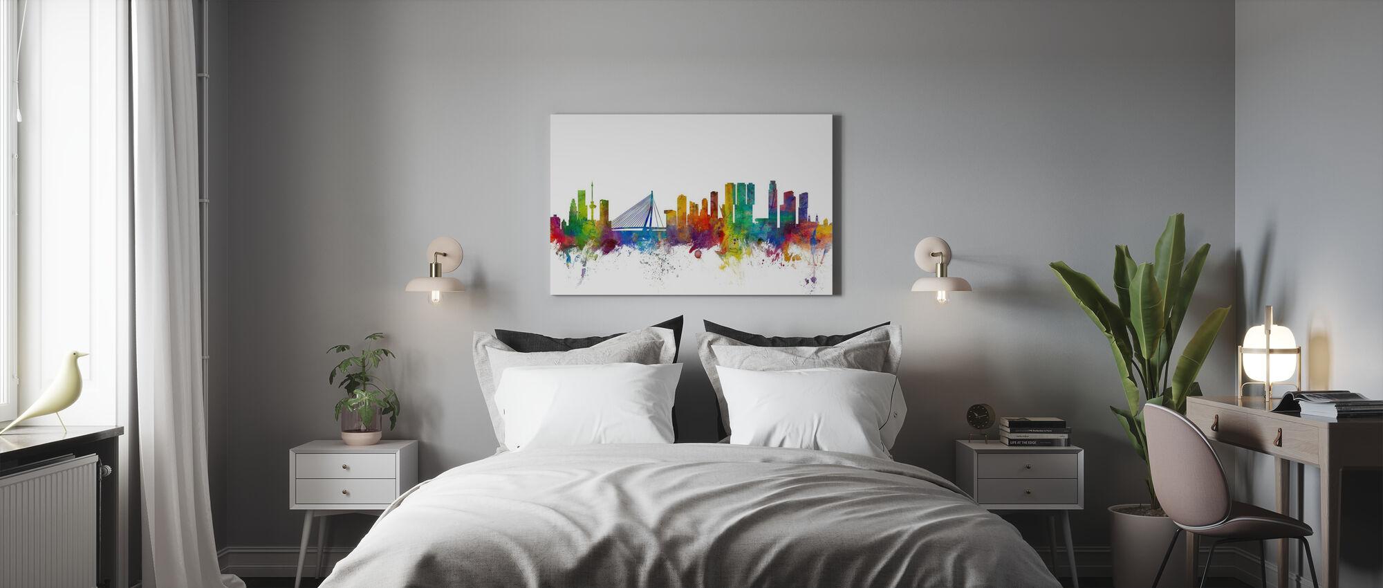 Rotterdam Skyline - Leinwandbild - Schlafzimmer