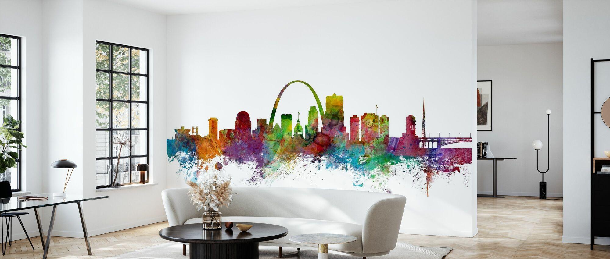 St Louis Missouri Skyline - Wallpaper - Living Room