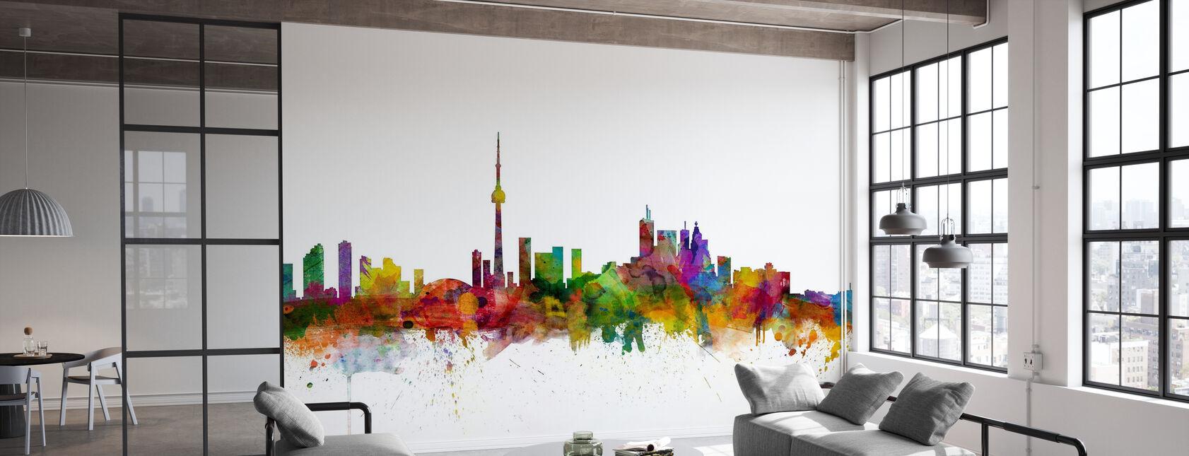Vue d'horizon de Toronto - Papier peint - Bureau