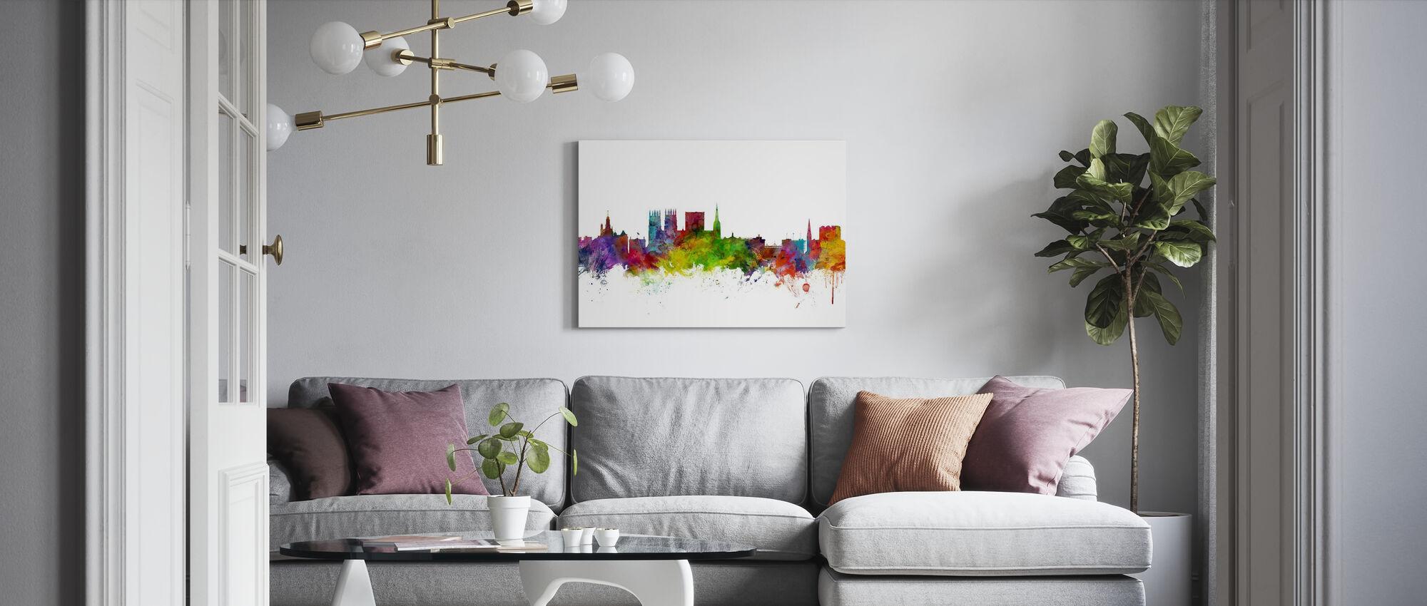 York England Skyline - Canvas print - Living Room