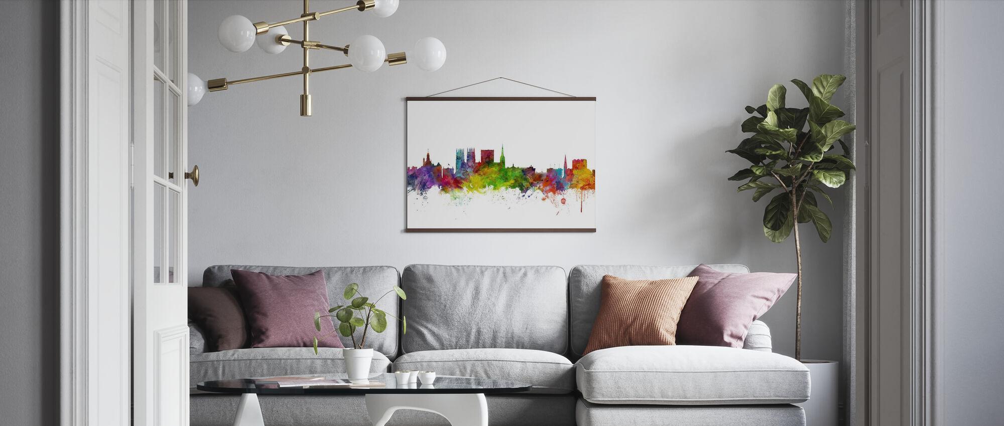York England Skyline - Poster - Living Room