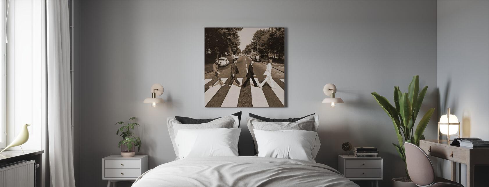 Beatles - Klostervägen Sepia - Canvastavla - Sovrum