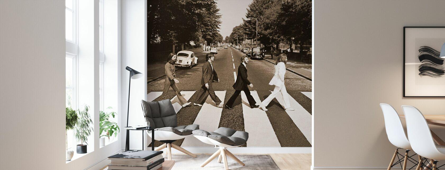Beatles - Klostervägen Sepia - Tapet - Vardagsrum