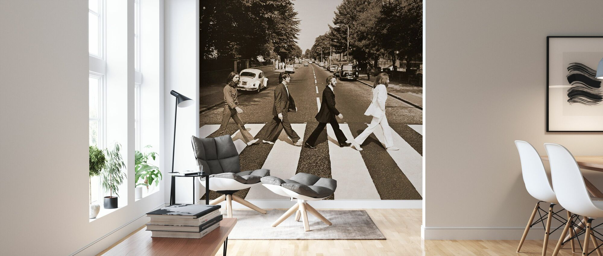 Beatles - Abbey Road Sepia - Tapete - Wohnzimmer