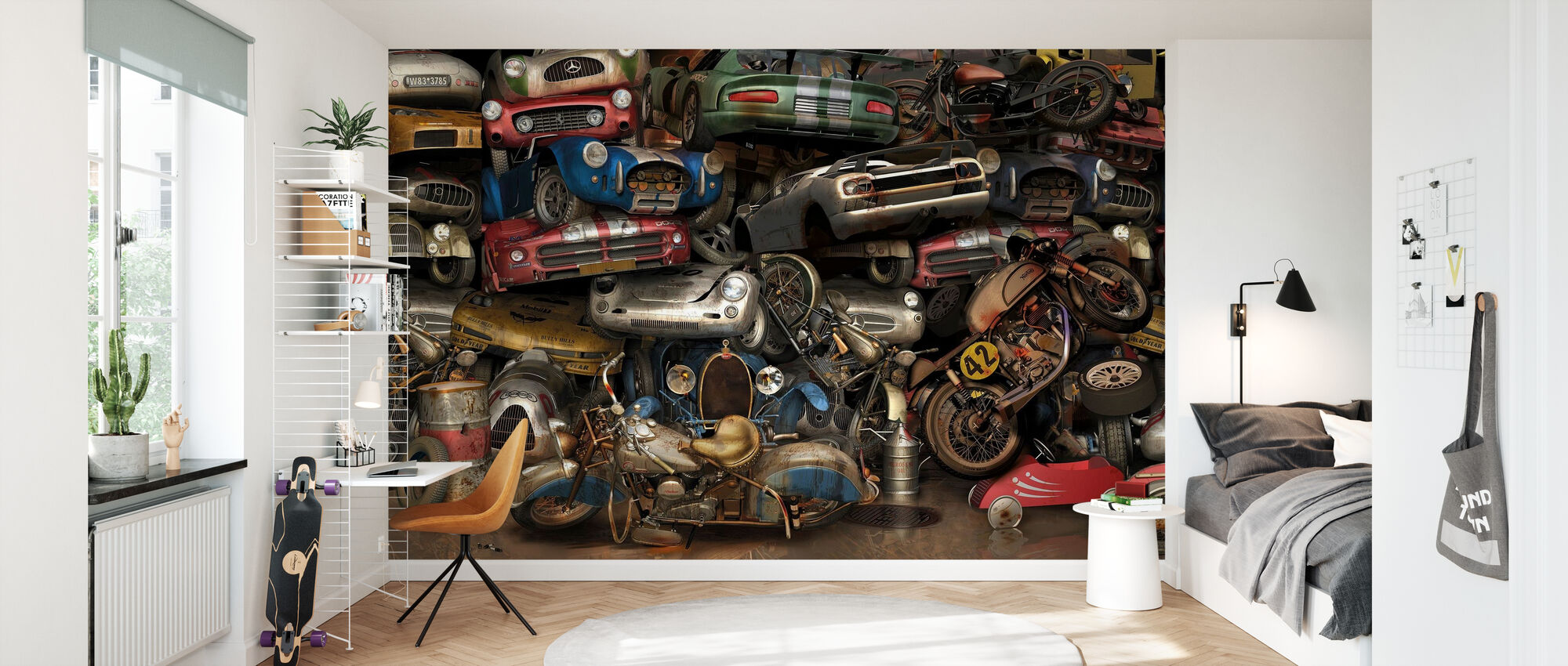 Recycling Wall - Wallpaper - Kids Room