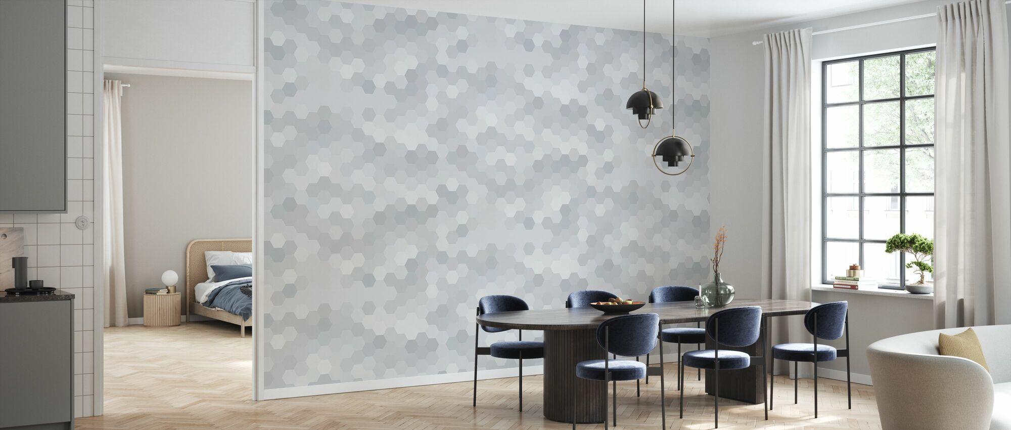 Abstrakt Mosaik - Varm Grå - Tapet - Kök