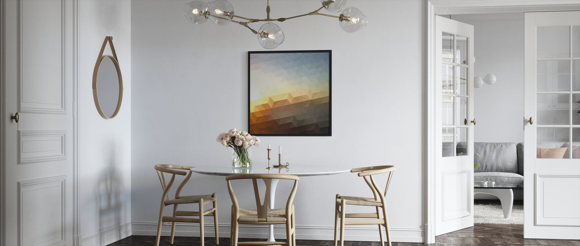 Abstract Sunset - Framed print - Kitchen