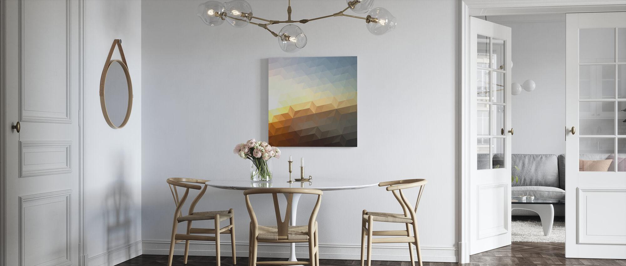 Abstract Sunset - Canvas print - Kitchen