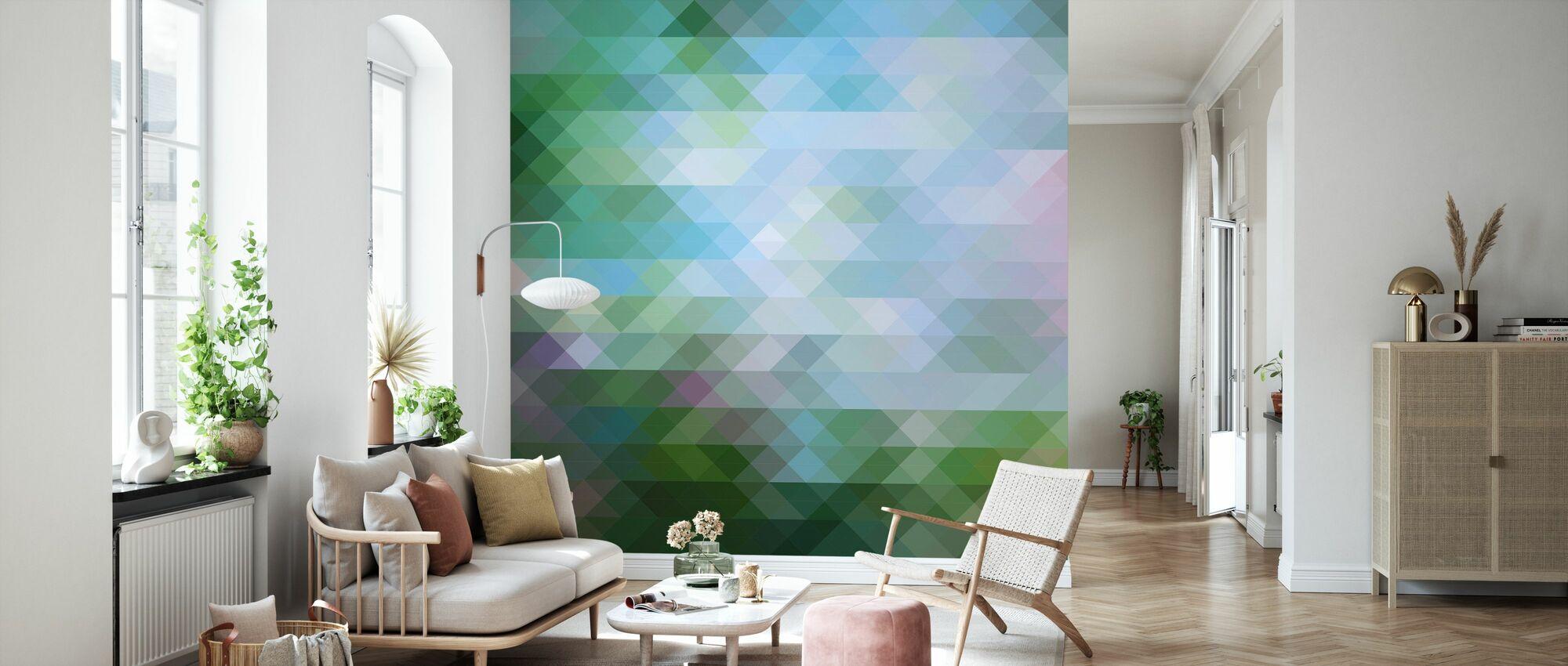 Abstract Triangular Pattern 2 - Wallpaper - Living Room