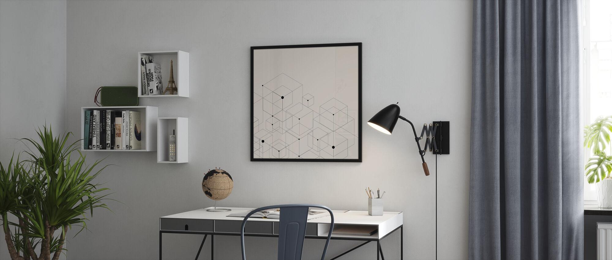 Black Lines - Framed print - Office