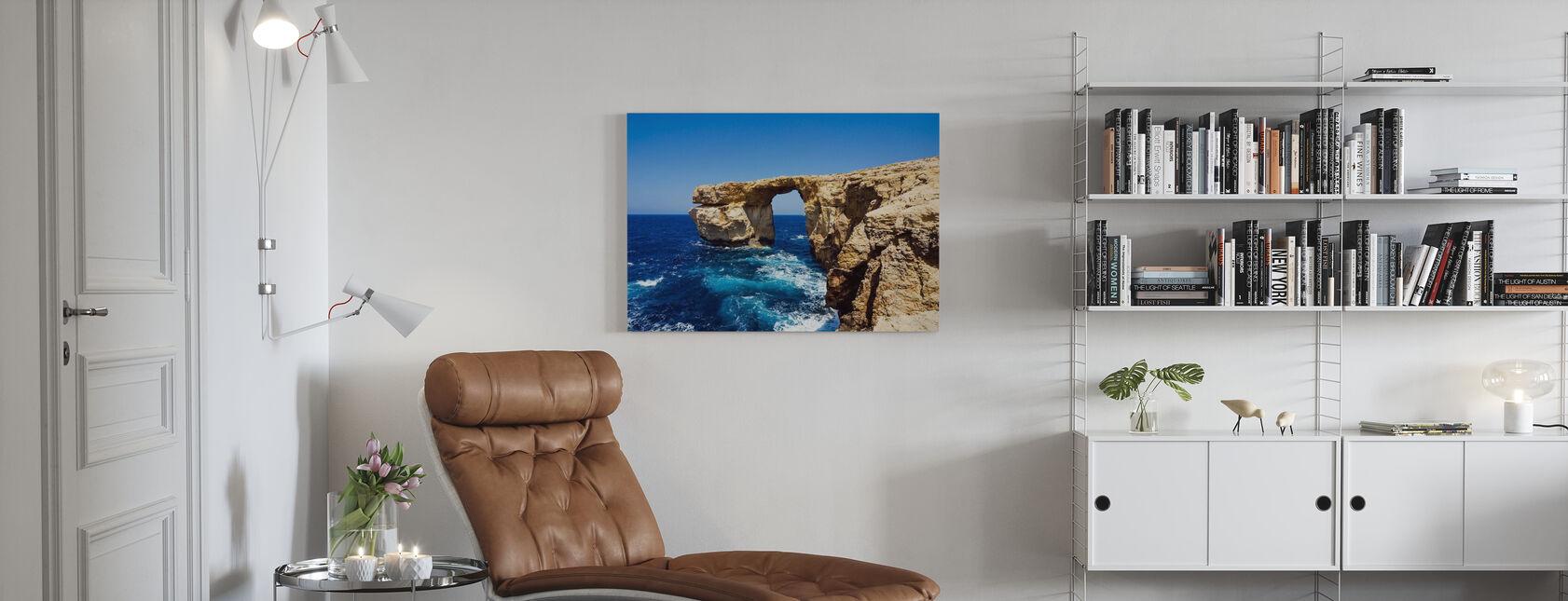 Azure-vindue - Billede på lærred - Stue