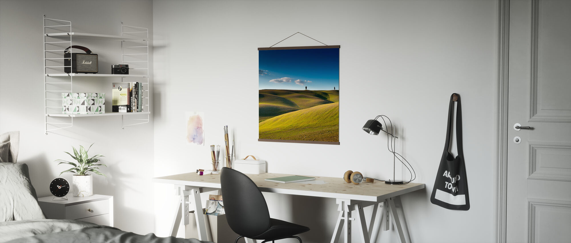 Cypress Trees on top of Rolling Field - Poster - Office