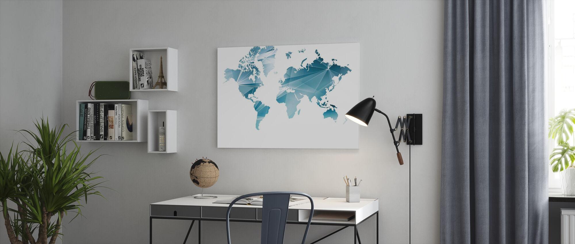 Geometrinen konsepti maailmankartta - Canvastaulu - Toimisto