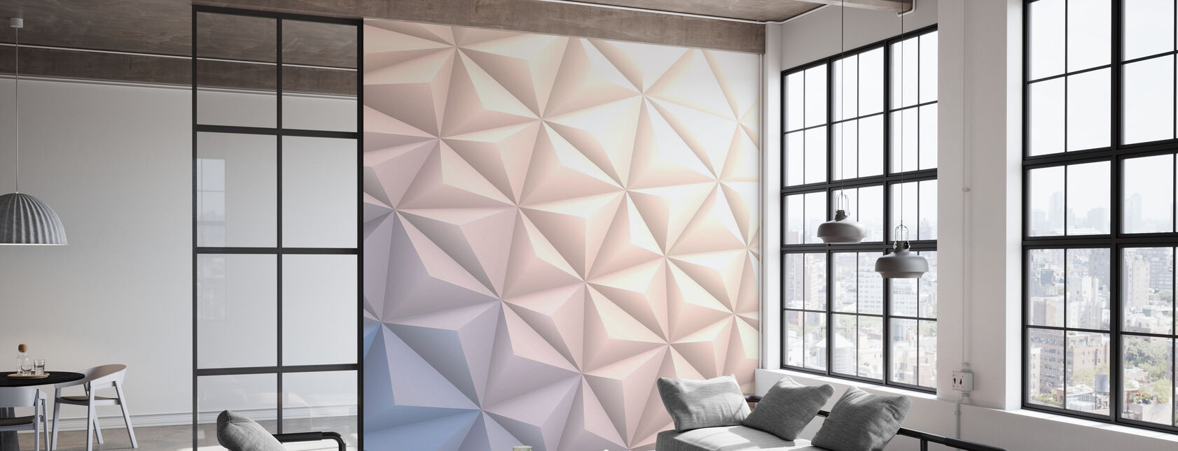 Geometric White - Wallpaper - Office