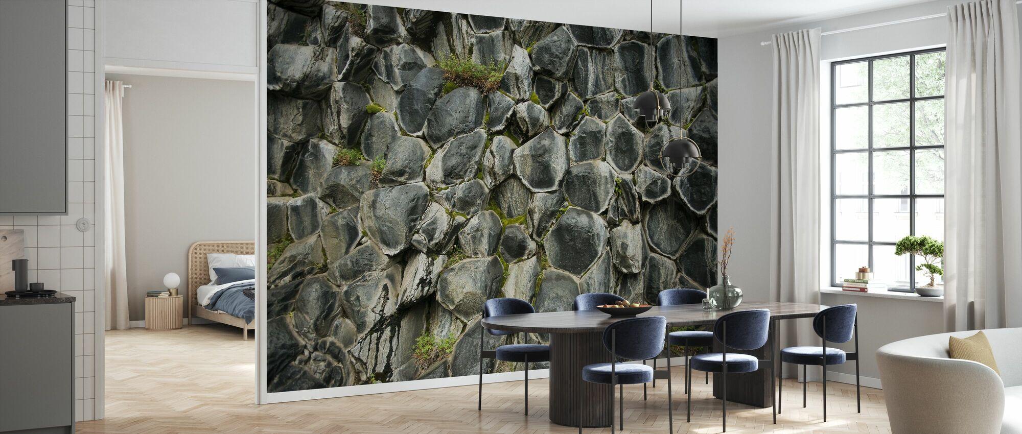 Honeycomb mønstrede Basalt kolonner - Tapet - Kjøkken