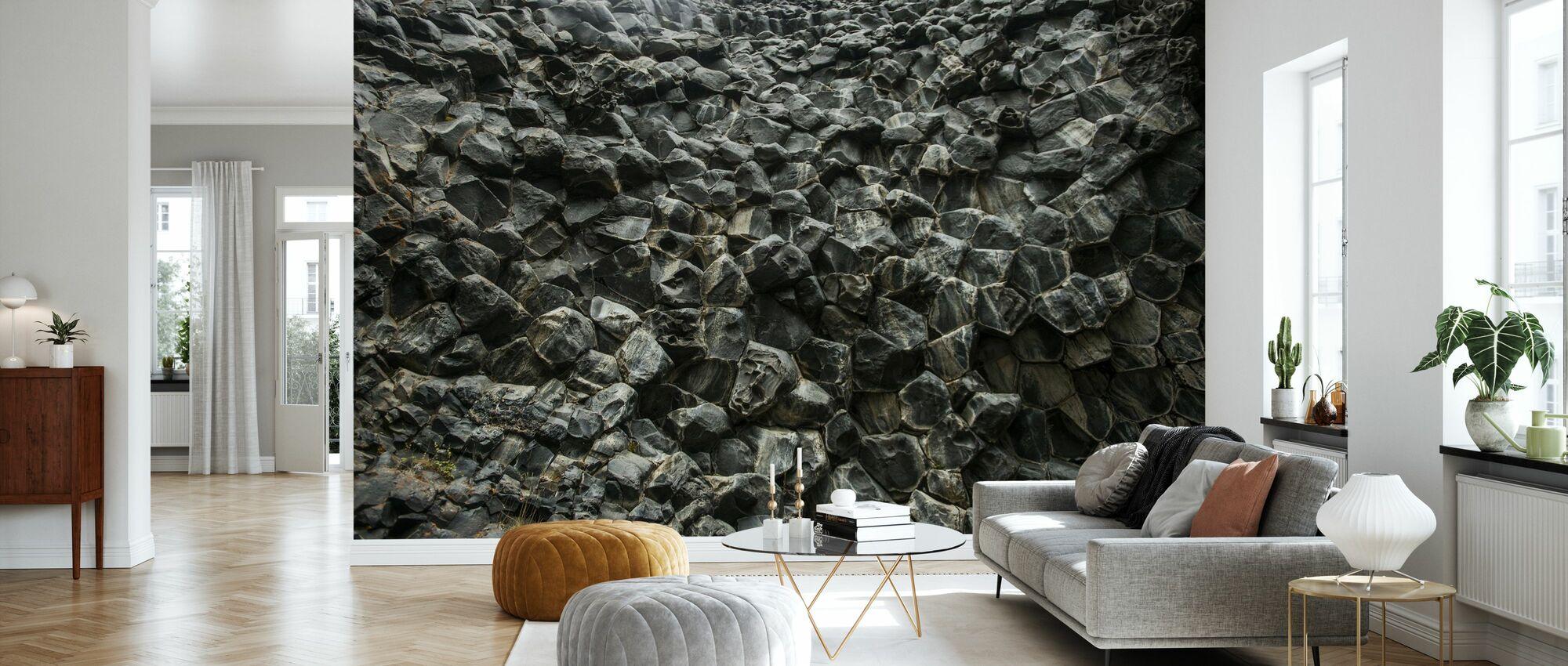 Honeycomb Mønstret Basalt vegg - Tapet - Stue