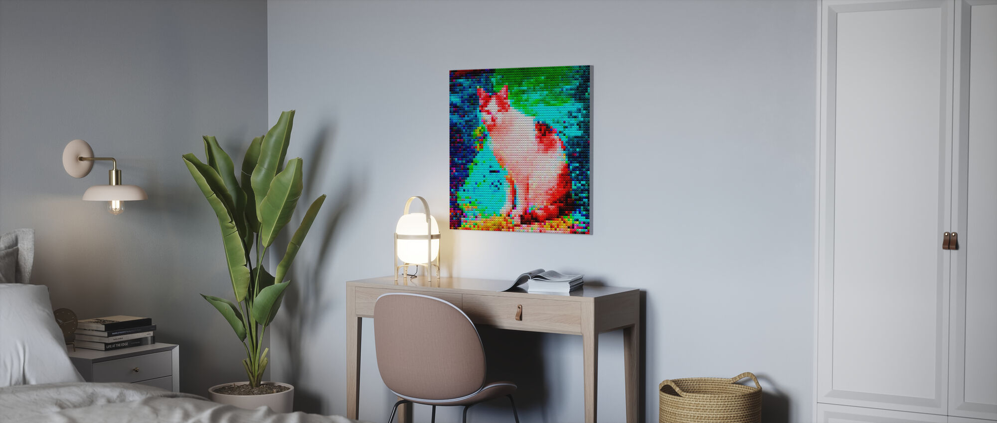 Mosaic Cat - Canvas print - Office