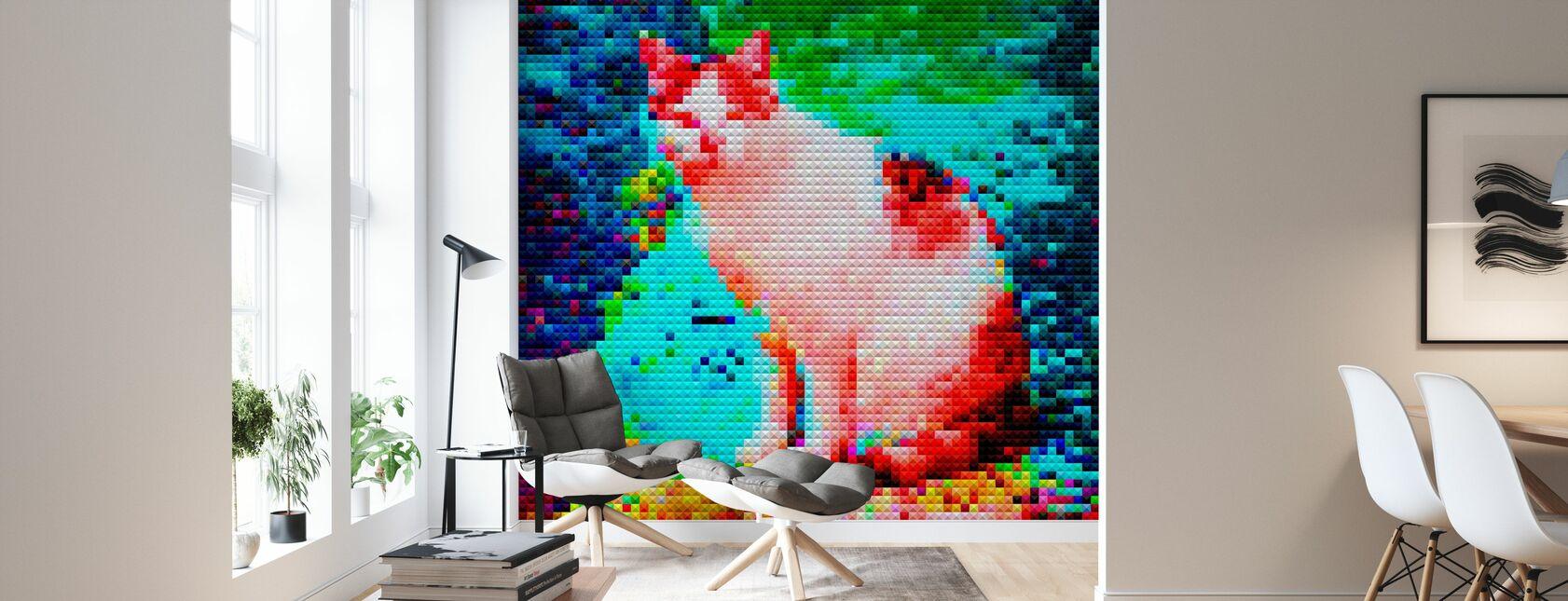 Mosaic Cat - Wallpaper - Living Room