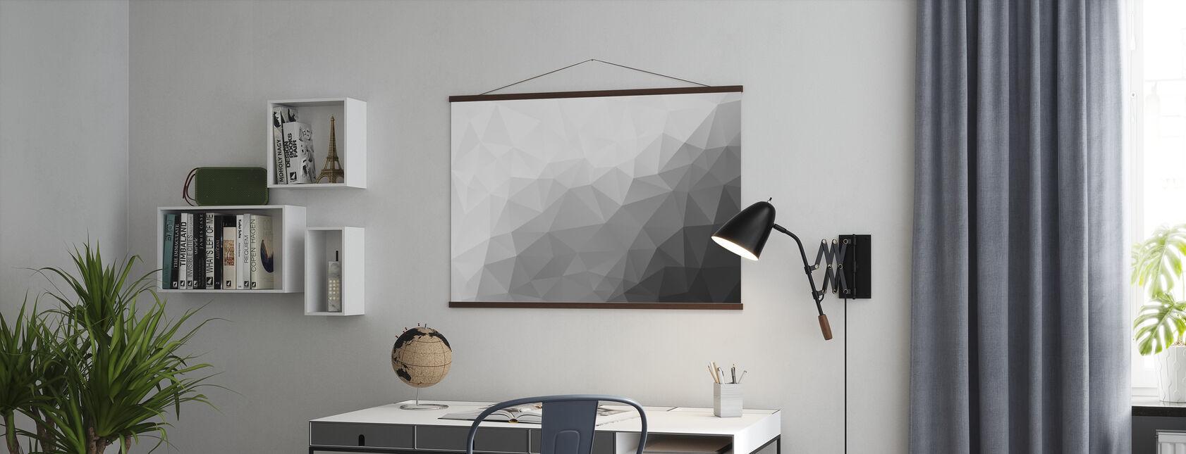Polygonal Grautöne 2 - Poster - Büro