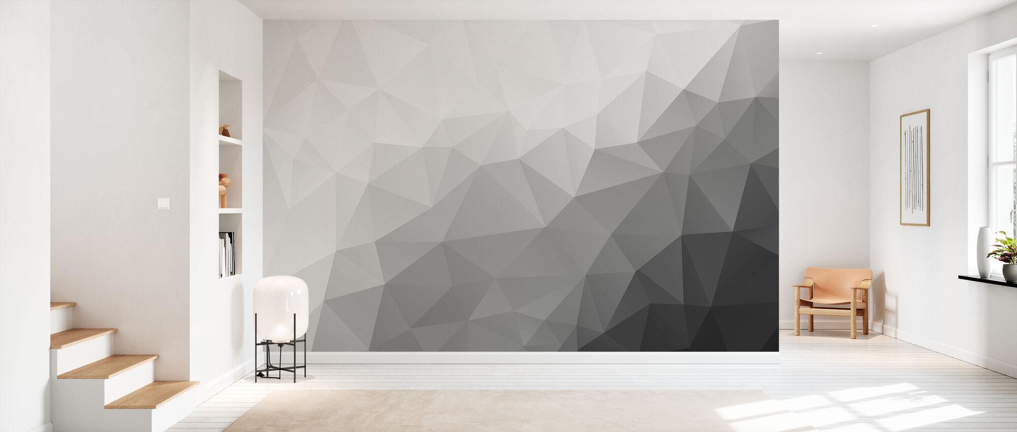 Polygonal Grey Shades 2 - Wallpaper - Hallway