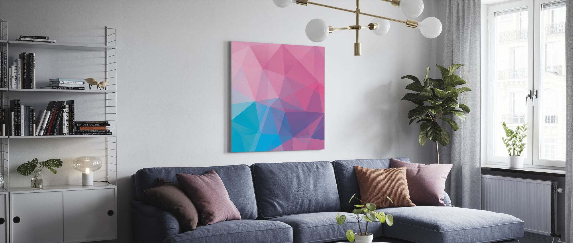 Polygonal Pastels - Canvas print - Living Room