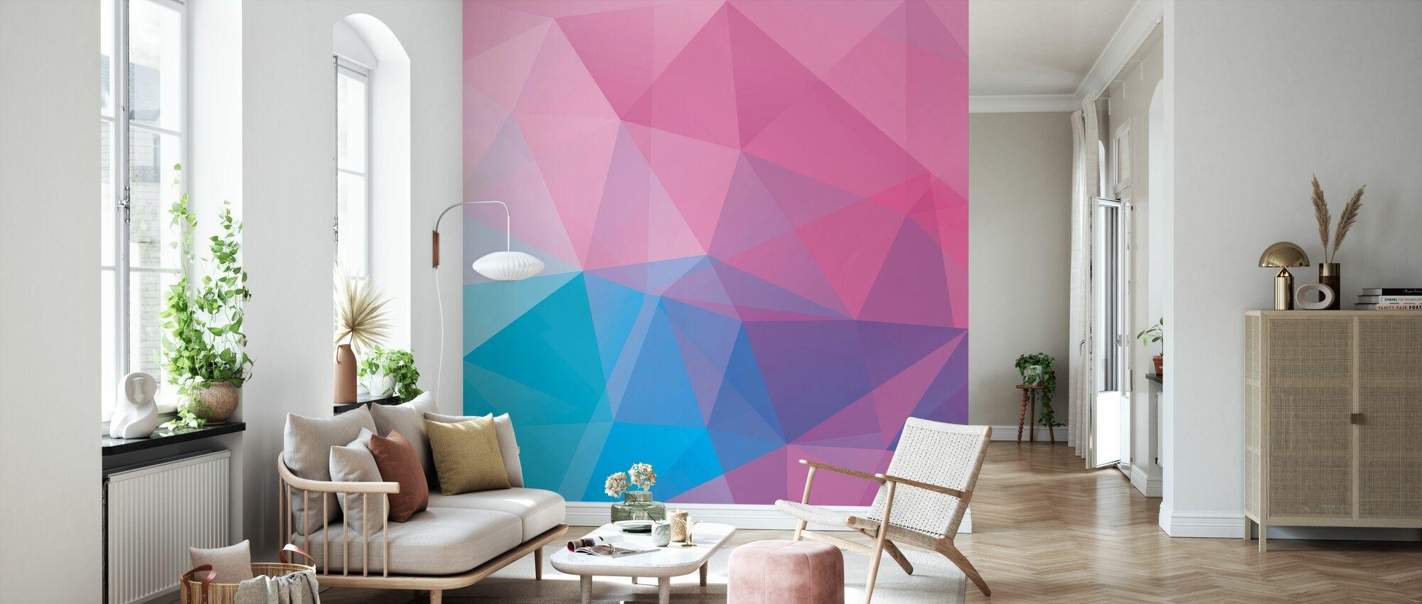 Polygonal Pastels - Wallpaper - Living Room