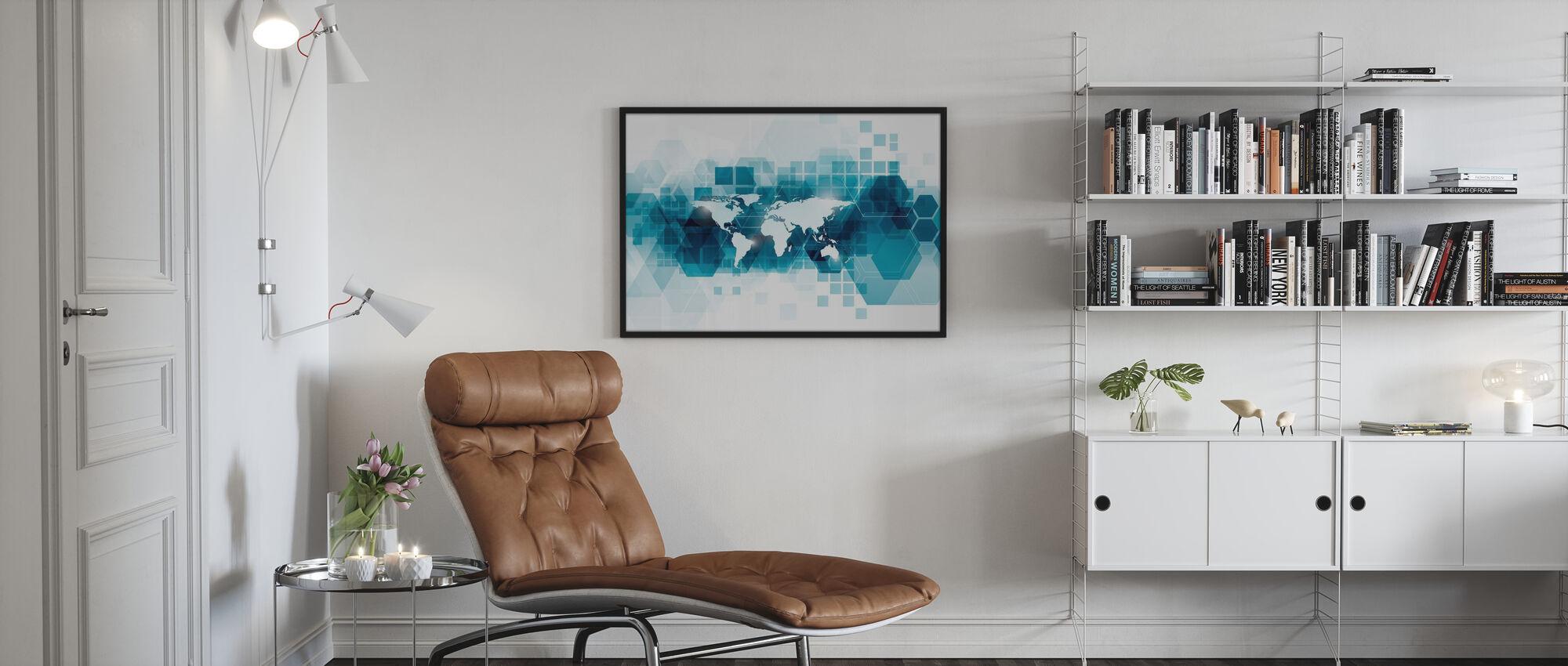 Transparent Vector World - Poster - Living Room