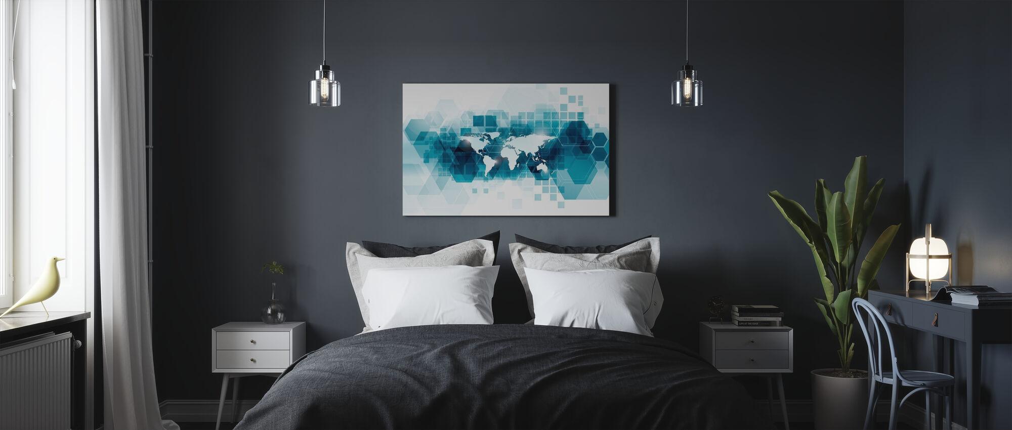 Gennemsigtig vektor verden - Billede på lærred - Soveværelse