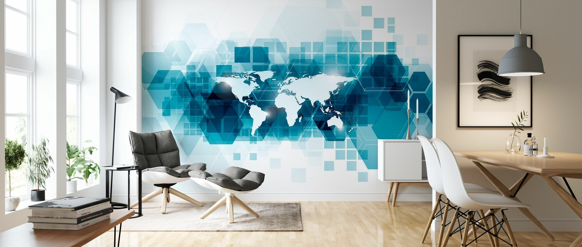 Transparent Vector World - Wallpaper - Living Room