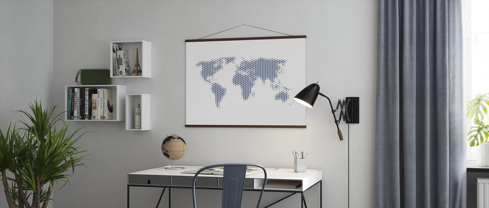 World Map Metal Sheet- Steel - Poster - Office