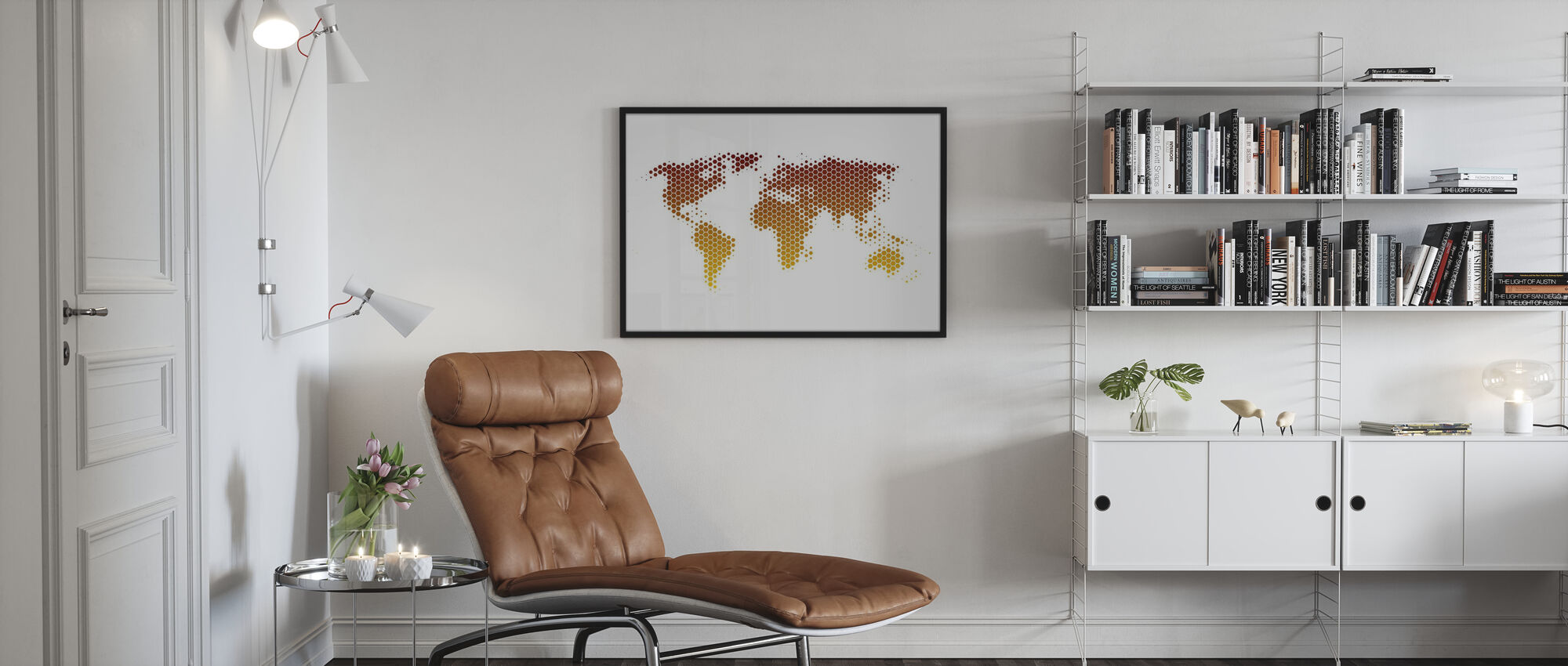 World Map Metal Sheet - Poster - Living Room