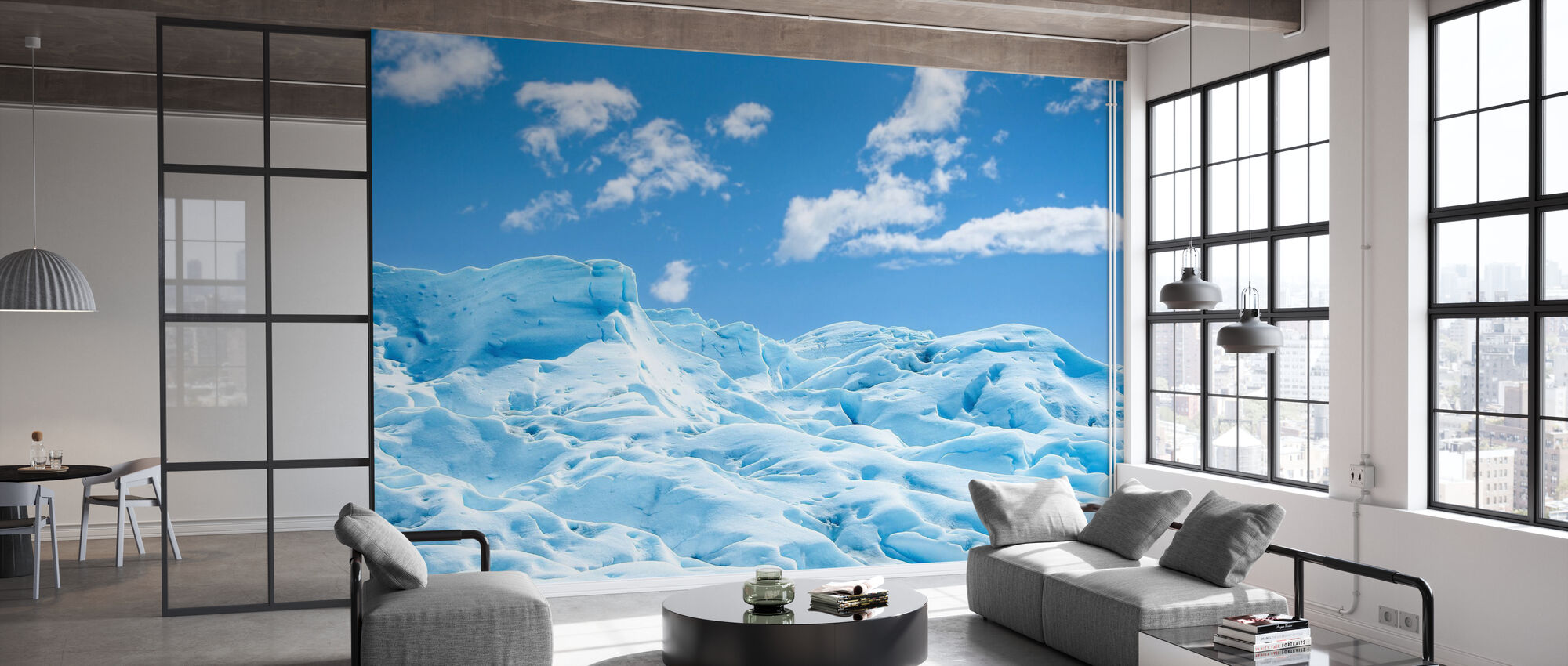 Bevroren grond - Behang - Kantoor