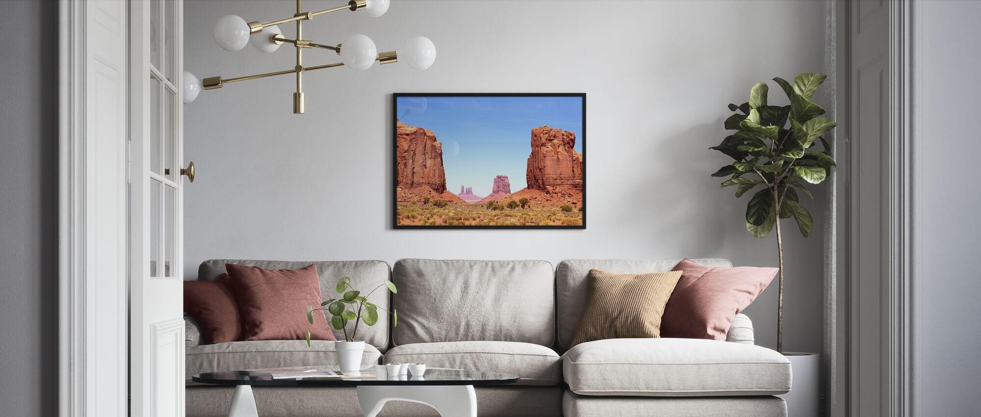 Nord vindu av Monument Valley - Plakat - Stue