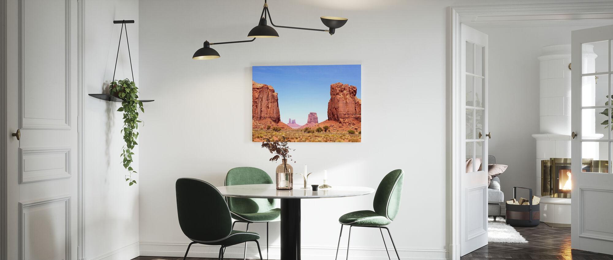 Noorderraam van Monument Valley - Canvas print - Keuken
