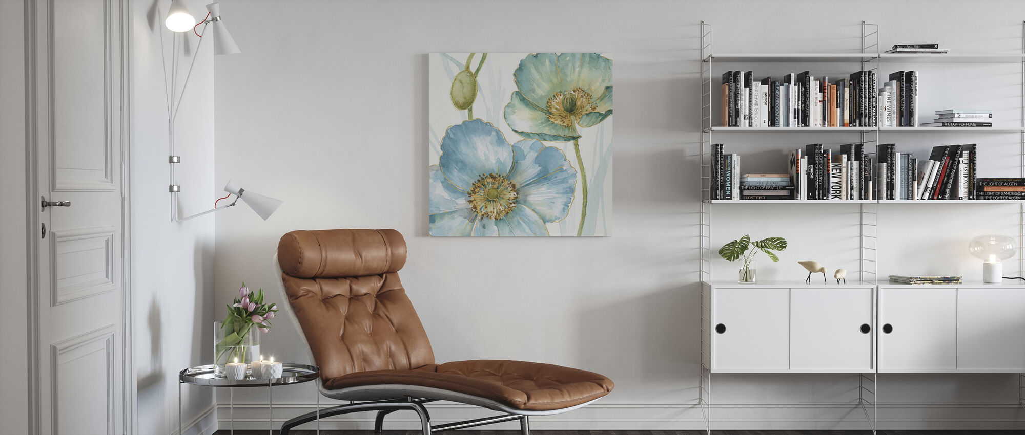 Blue Mountain Poppy - Canvas print - Living Room