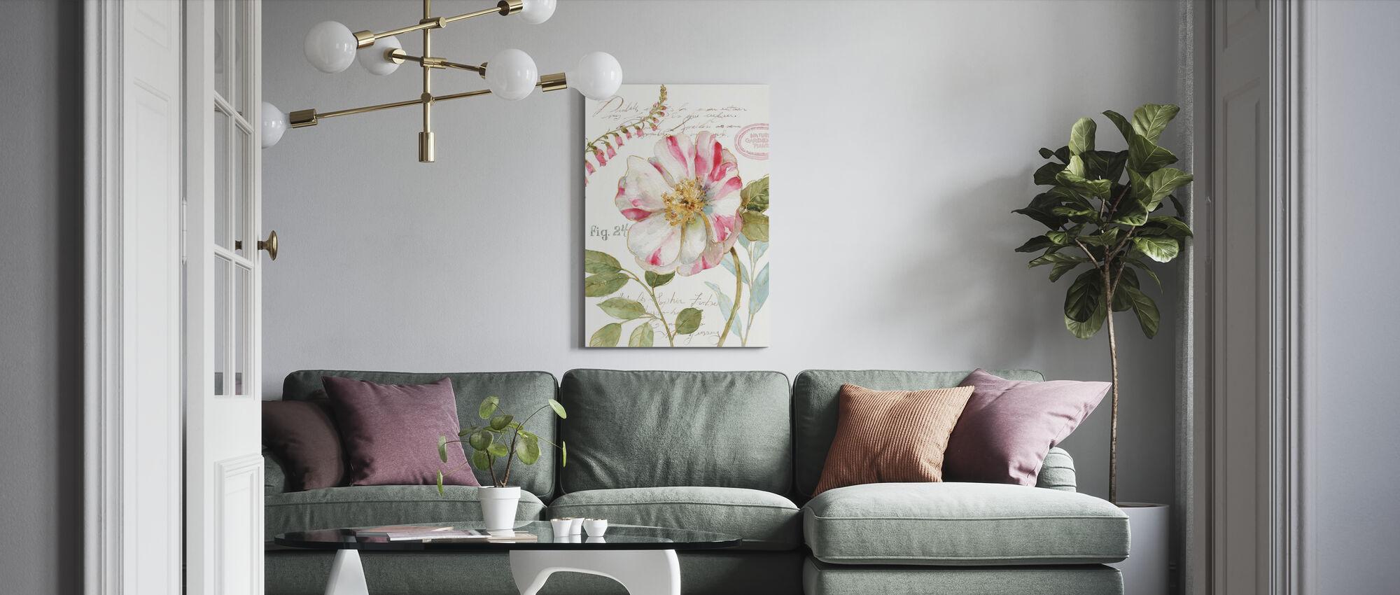 Candy Stokk stripete Blomst - Lerretsbilde - Stue
