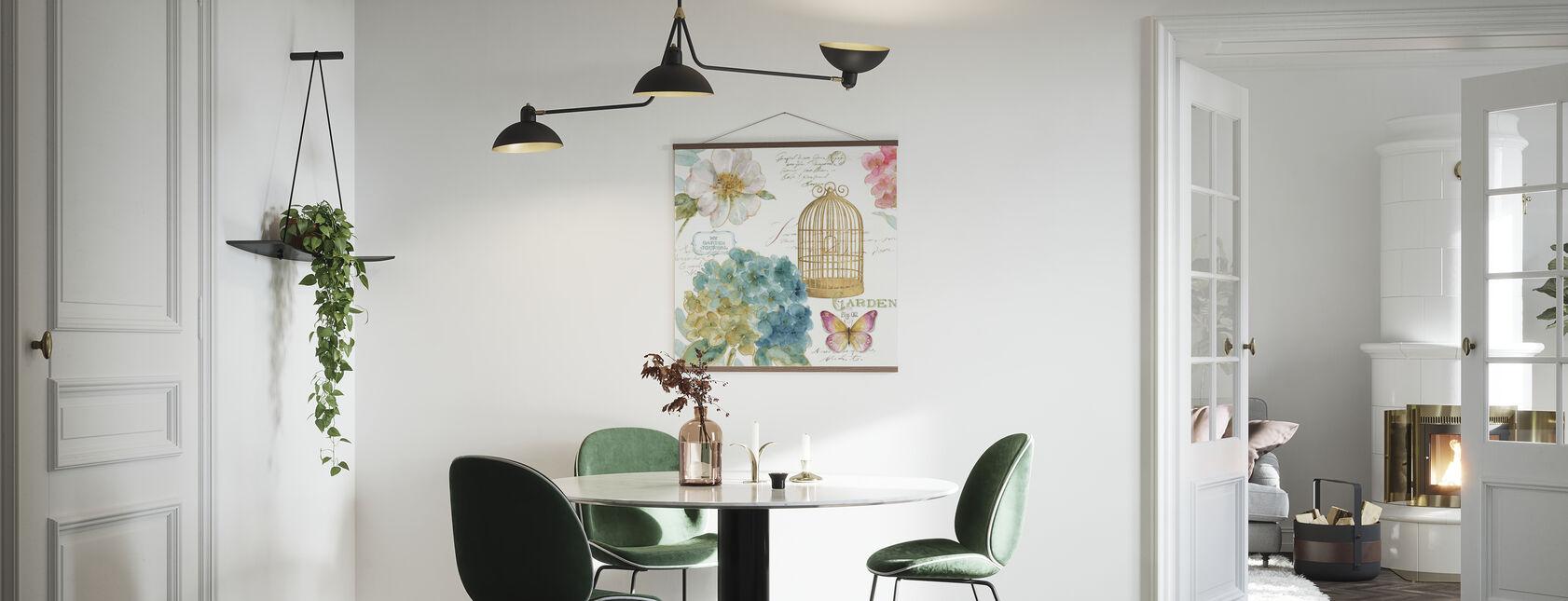 Hydrangea Birdcage - Poster - Kitchen