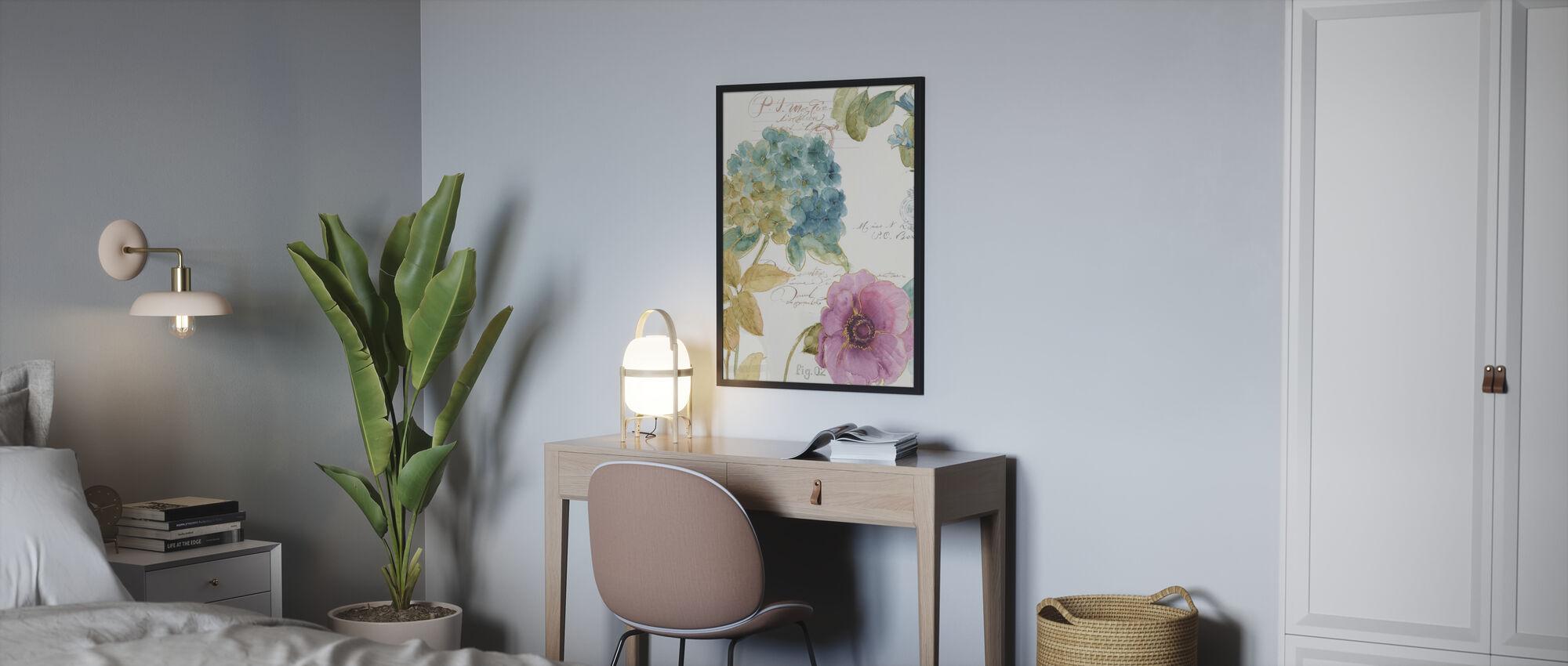 Hydrangea Letter - Poster - Bedroom
