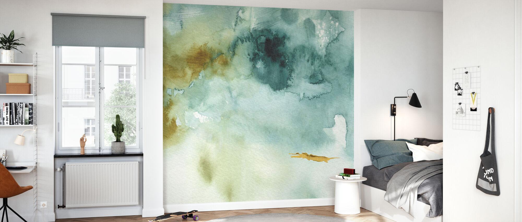 Min drivhus akvarell 2 - Tapet - Barnerom