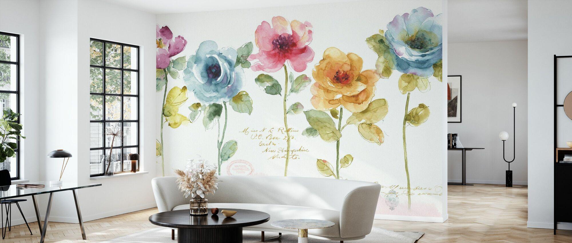Rainbow Seeds Floral - Wallpaper - Living Room