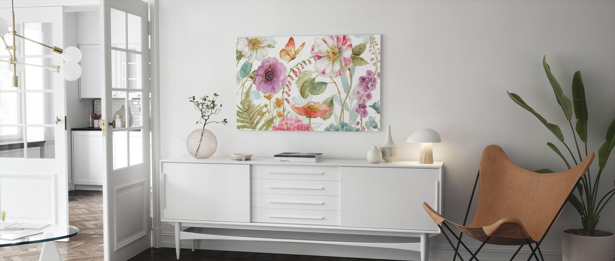 Rainbow Seeds Flowers 1 - Canvas print - Living Room