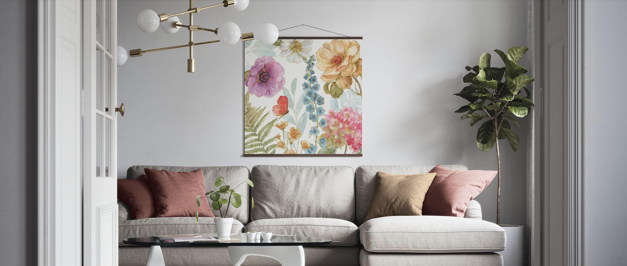 Rainbow Seeds Flowers 3 - Poster - Living Room
