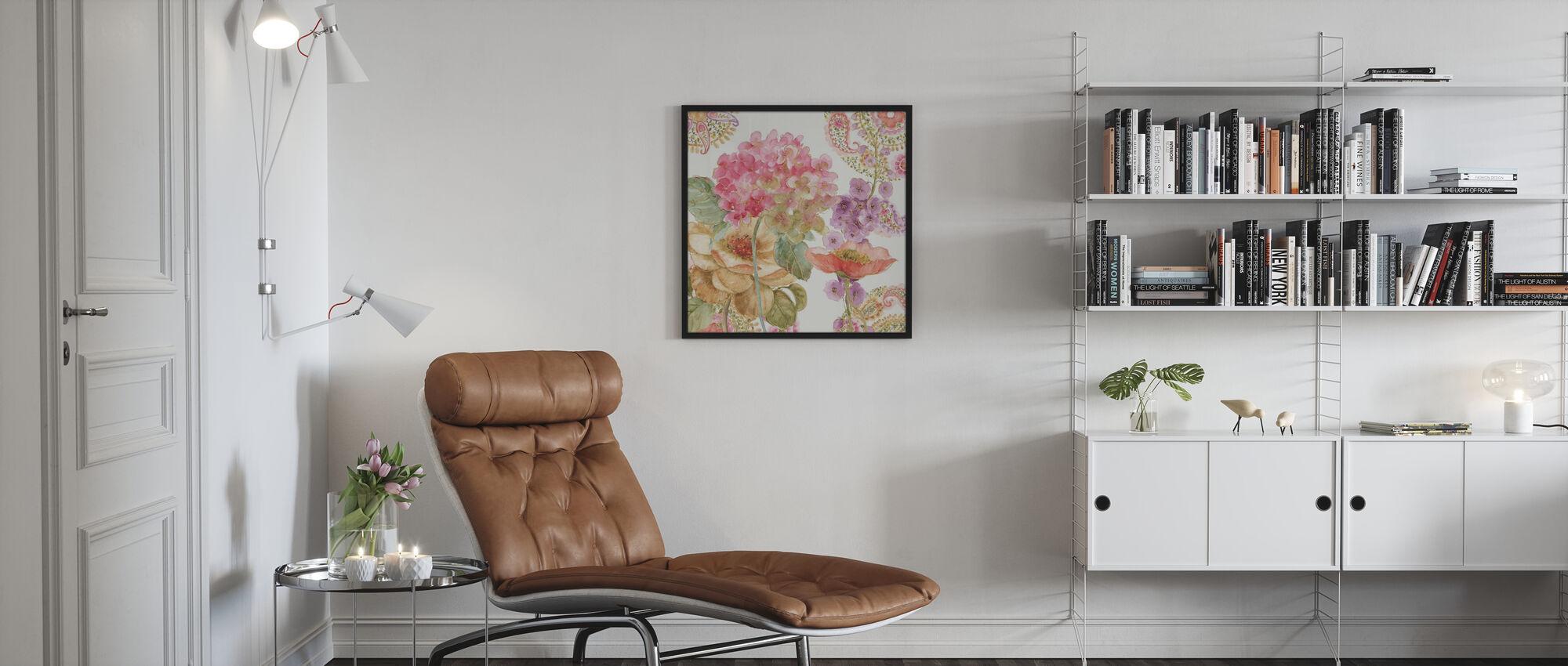 Regenboog Zaden Paisley 2 - Poster - Woonkamer