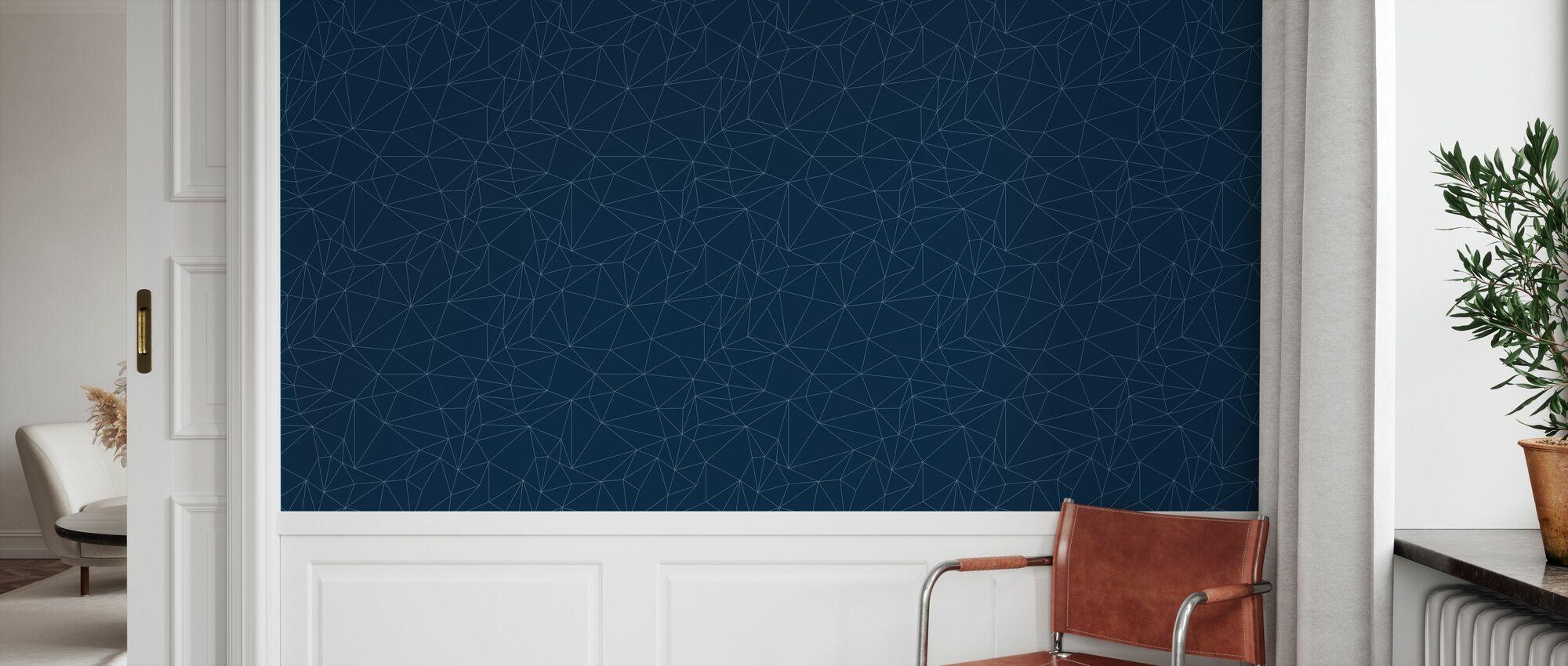 Grafo - Blue - Wallpaper - Hallway