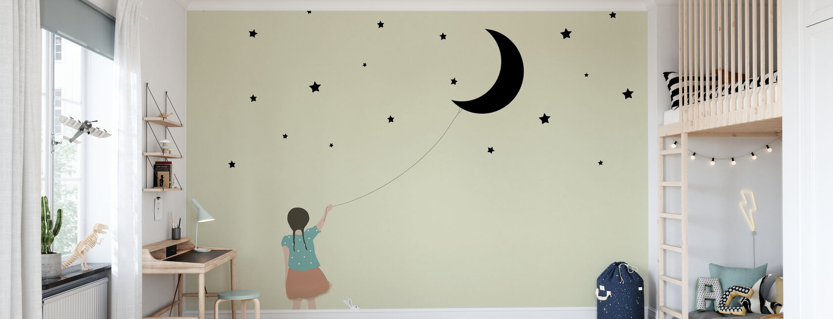 Stars and moon - Wallpaper - Kids Room