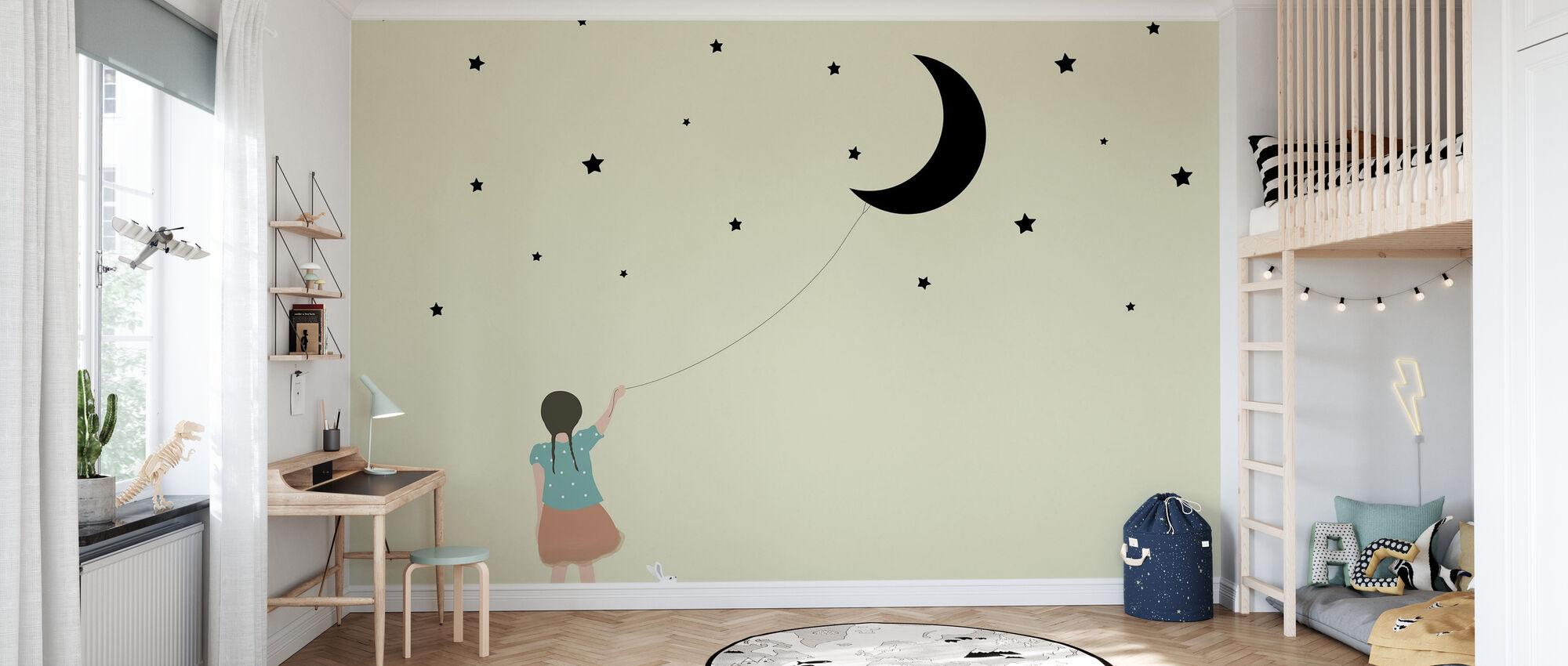 Stelle e luna - Carta da parati - Camera dei bambini