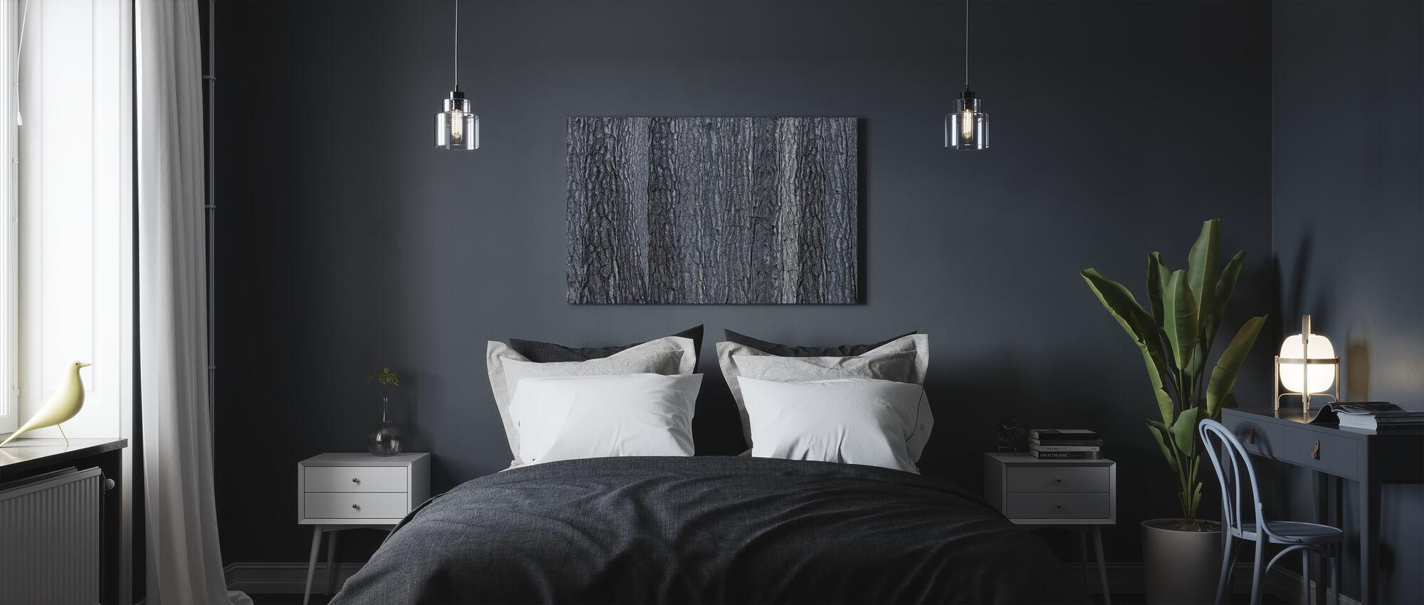 Corteccia nera blu - Stampa su tela - Camera da letto