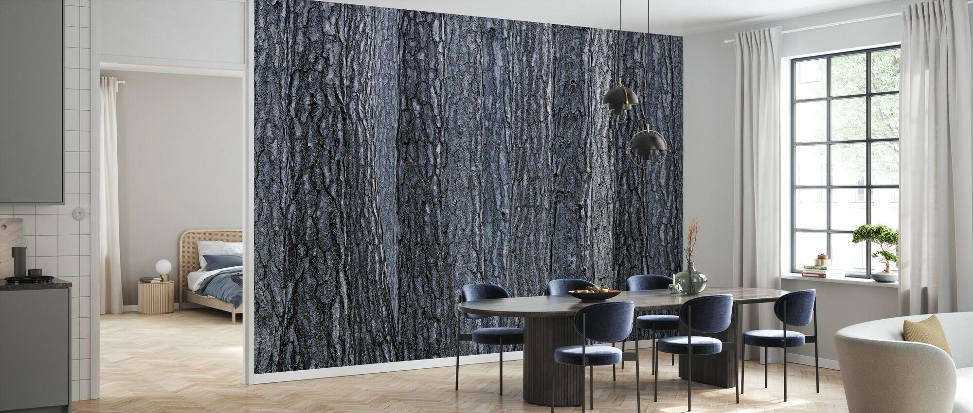 Black Blue Bark - Wallpaper - Kitchen